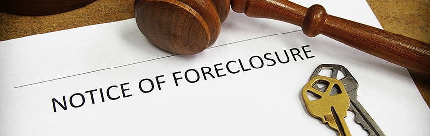 Answering questions on foreclosure sales.